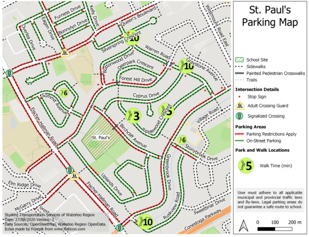 St. Paul's Parking Map
